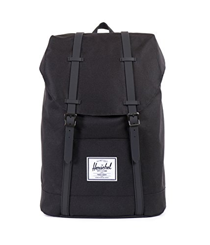 Herschel Retreat Backpack - Mochila casual unisex, Negro (Black/Black), Talla única