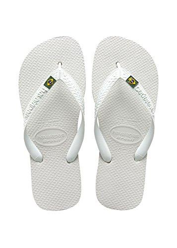 Havaianas Brasil Infradito, Unisex-Adulto, Bianco/Verde (WHITE 0001), 39/40 EU (37/38 BR)