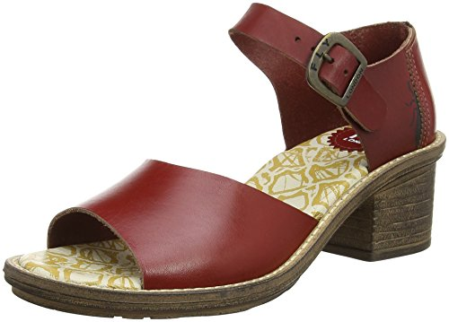 FLY London Clym500fly, Sandales Bride cheville femme Rouge - Rot (RED 004)