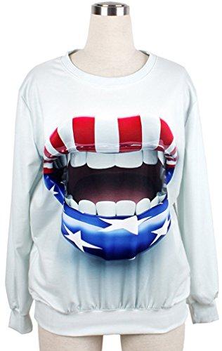 Belsen Damen T-Shirt Einheitsgröße mouth open