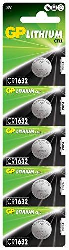 GP CR1632-7U5 Lithium Batterie CR1632 (3V, 5er Pack) Blister