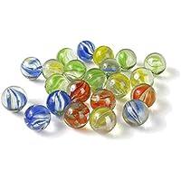 vientiane Mármoles de Cristal Coloridos, 420 pedazos Juguetes de Bolas de Canicas, Diámetro de 14 mm para Juguetes de la Decoración, Consolas de Juegos, Decoración de la Planta Hidropónica