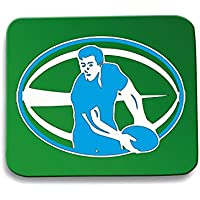 Cotton Island - Tappetino Mouse Pad TRUG0179 rugby player logo,