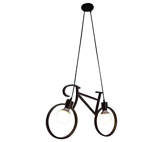 Europäische Kreative Persönlichkeit Fahrrad Pendelleuchte Deckenleuchte Schwarz Max 40W mit Kinder Schlafzimmer