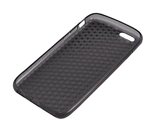 Xcessor Transition Farbe Flexible TPU Case Schutzhülle für Apple iPhone 6. Mit Gradient Silk Gewinde Textur. Transparent / Grau Grau / Transparent