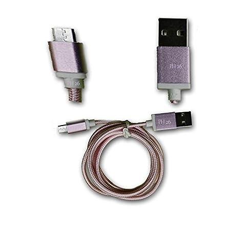 Orange avec Intel Inside Câble Data ROSE 1M en nylon