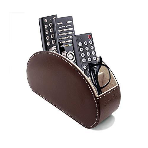 Fernbedienung Halter PU Leder TV Stift Bleistift Remote Organizer mit 5 Geräumigen Fächern für Wohnzimmer und Büro - Leder-sofa Platz