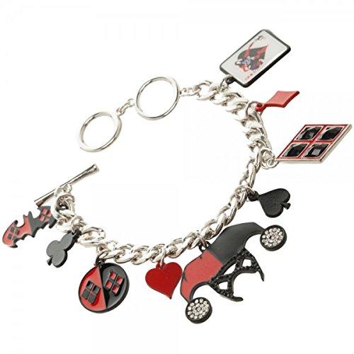 bracelet-dc-comics-harley-quinn-charm-new-toys-licensed-fj35pkdco