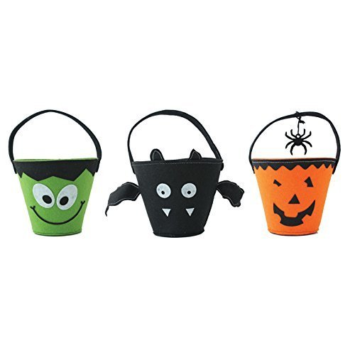 Halloween Trick Or Treat Eimer Korb Tasche–Grün X 1