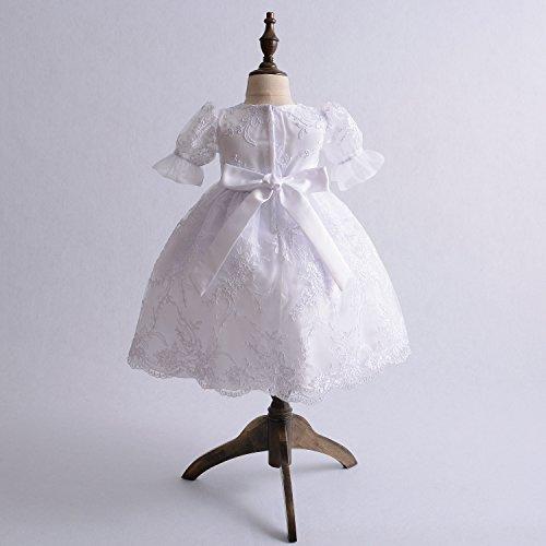 Cinda Baby Spitze Taufkleid Taufe Kleid und Mütze Weiß 62-68 - 2