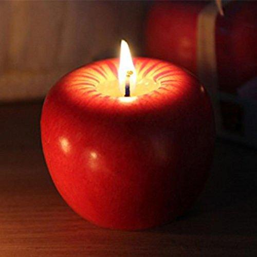 Amuster mode natale decorazione mela a forma di candele profumate festa di nozze decorazione candela (a)