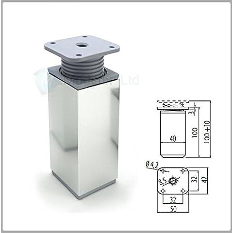 Aluminio Patas De Muebles-Para Sofá, Camas, Sillas, Taburetes 100mm + 10mm