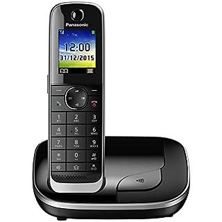 Panasonic KX-TGJ310GB Familien-Telefon mit Anrufbeantworter/ DECT Basisstation, schnurloses Telefon, strahlungsarm, schwarz