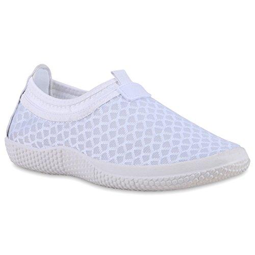 Bequeme Damen Slip-ons Profil Sohle Slipper Sportschuhe Weiß