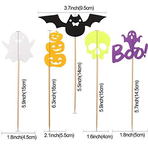 Zorux - Halloween-Dekorationen für Zuhause, Halloween, Party, Horror-Requisiten, Spinnenkürbis Spukhaus, Dekoration, Event, Party-Zubehör Cupcake Toppers