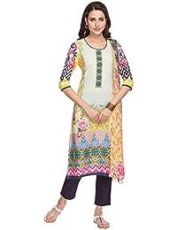 Kashish By Shoppers Stop Womens Printed Pants Kurta Dupatta Set