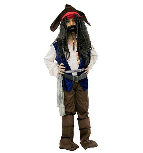 Kind Sparrow Jack Kostüme (Jack Sparrow kostüm inspiriert (1 bis 12 jahre) - 1 bis 3)