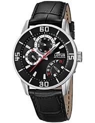 Lotus 15798/3 - Reloj analógico de cuarzo para hombre con correa de piel, color negro
