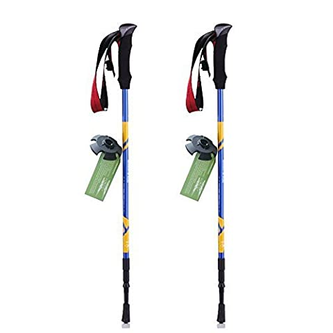 JESBAN Trekking Poles Ultralight Walking Hiking Sticks with Adjustable Height for Trekking Walking Hiking (BlueE-1Pair)