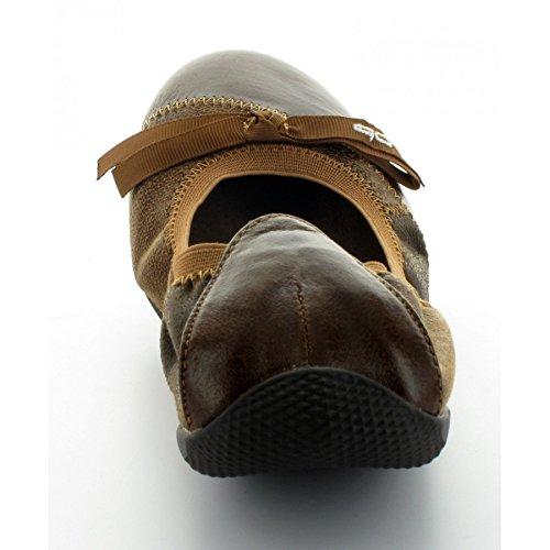 Les P'tites Bombes ballerina legno di mogano, colore marrone - marrone