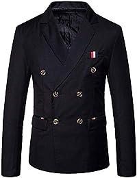 Herren Doppelreiher Sakko Blazer Smoking Smart Anzug Jacke Einfacher Stil  Slim Fit Mantel Hochzeit Elegant Outerwear 8d4f6b5580