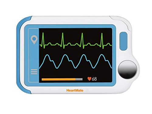 Trendmedic Heartmate Herzfrequenzmesser (Version 2019) EKG für Privat und Praxen, Farbdisplay. Zur einfachen Kontrolle des EKG\'s