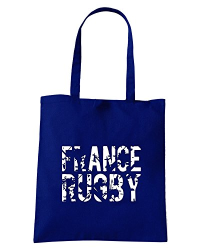 T-Shirtshock - Borsa Shopping TRUG0089 ruggershirts france rugby logo Blu Navy