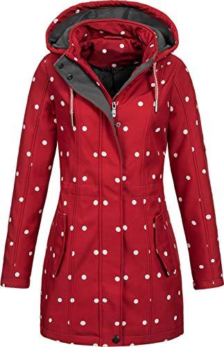 Top Fuel Fashion Damen Softshelljacke Kurzmantel Ivana red/White XL