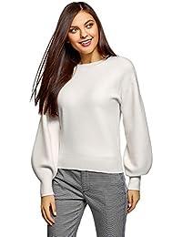 KLOD by KHIRA Damen Pullover S, Braun S: : Bekleidung