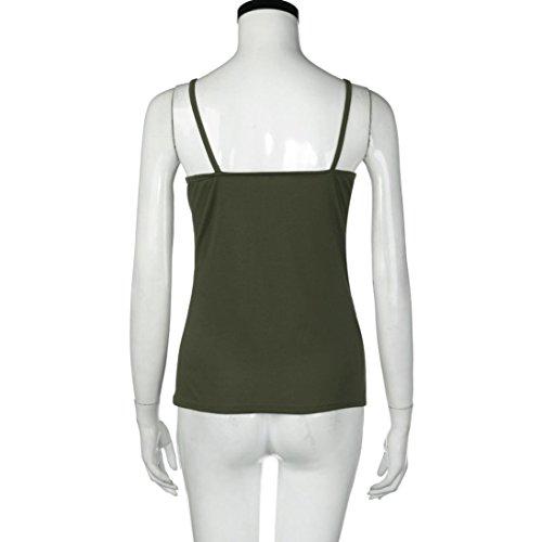 WYXlink - Débardeur - Femme vert militaire