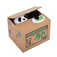 DDG EDMMS Cute panda money box cute animal stealing coin bank for kids and adults