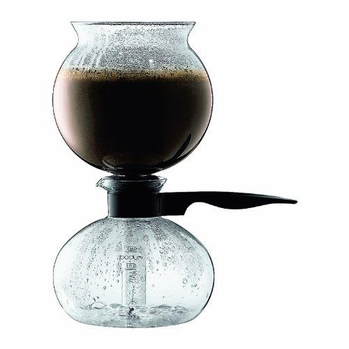 Bodum 1208-01-70 Pebo Vakuum Kaffeebereiter, 8 Tassen, 1 L, schwarz