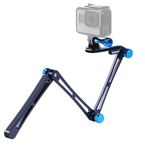 Smatree X1 Aluminium Foldable Multi-functional Pole/Monopod for GoPro Hero Action Camera/GoPro Fusion/Hero 6/5/4/3+/3/2/1/Session / for Compact Cameras