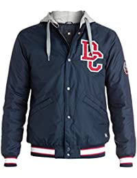 DC Shoes Men's Colwood Varsity Jacket Navy Blue Iris XL