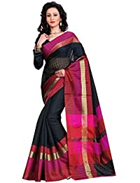 Fabattic Women's Chanderi Silk Saree With Blouse Piece (Chin9829D,Multicolor,Free Size)