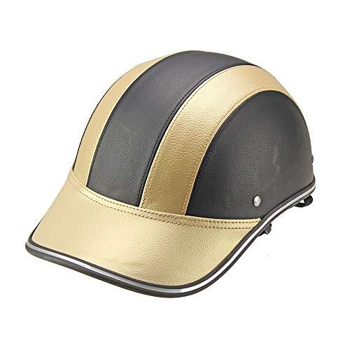 Open Face Helm Jethelm ABS Helm Cooles Futter Praktische Sicherheitsschnalle Motorrad- / Elektrohelm Helm Sommerhelm BaseballmüTze PersöNlichkeit Leichter...