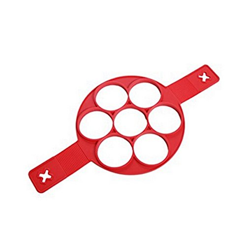 Albeey Omelette Form Nonstick Silikon Ei Ring Pfannkuchen Form, Fantastic Fast Einfache Möglichkeit Pancakes (Ei-ring Mikrowelle)