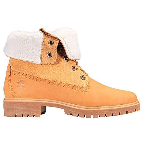 Timberland Authentics FTW_Authentics Teddy Fleece WP Fold Down 8329R, Damen Stiefel, Gelb (Wheat), EU 38 (US 7)