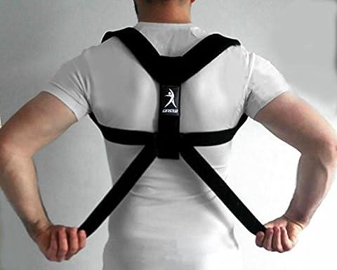 A Grandi réglable Correcteur de posture clavicule Support Brace–cibles douleurs du dos et des épaules arrondis pour homme et femme