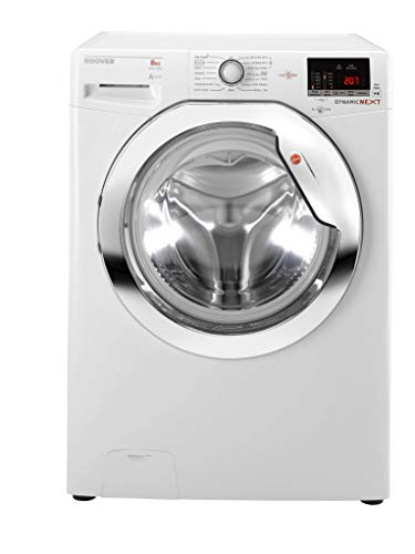 Hoover DXOC68AC3 Dynamic Next 8kg 1600rpm Freestanding Washing Machine With One Touch - White With Chrome Door