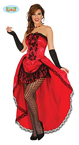 Sexy Rotes Burlesque Can Can Girl Karneval Motto Party Kostüm Damen Saloon 20er Jahre Gr. S-L, Größe:S