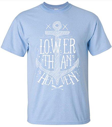 PAPAYANA - LOWER-HEAVEN - Herren T-Shirt - HIPSTER SKULL FACE ANCHOR ANKER SHIP DOPE Himmelblau