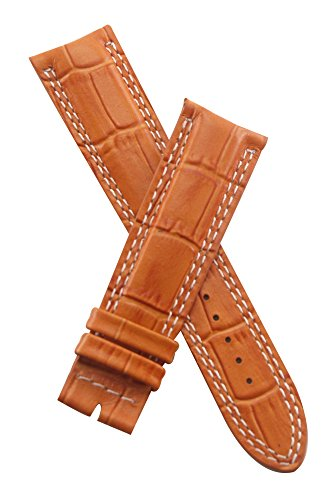 watch-strap-world-21-mm-tan-crocodile-style-leather-strap-to-fit-jager-le-coultre-master-compressor-