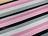 Mamasliebchen Jersey-Stoff widestripes #Black-Rose