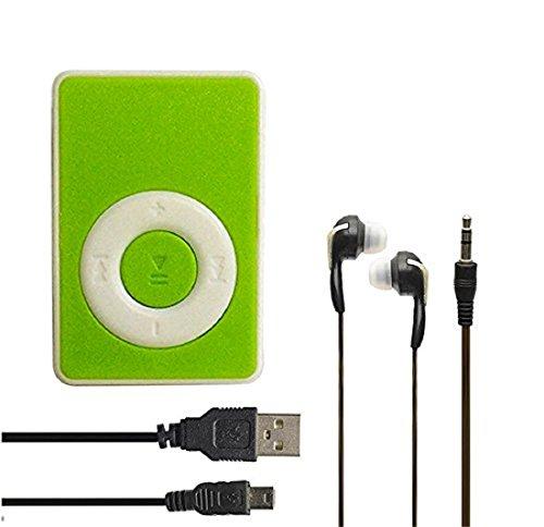 MN BRAND Mini Ipod Portable MP3 Player Micro SD card slot (32GB max) - Green