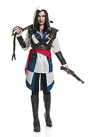 Charades Cutthroat Pirate Girl Costume Large (Charades Halloween Kostüme)