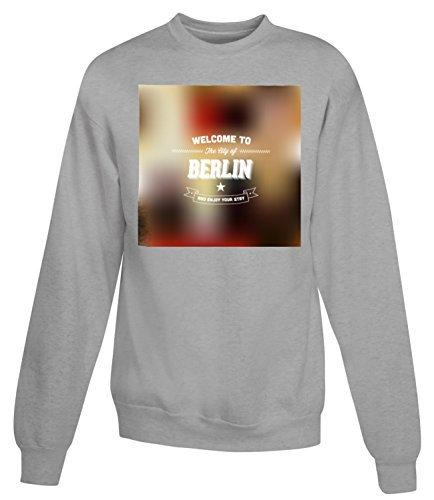Billion Group | Welcome Berlin Germany | City Collection | Women's Unisex Sweatshirt Gris