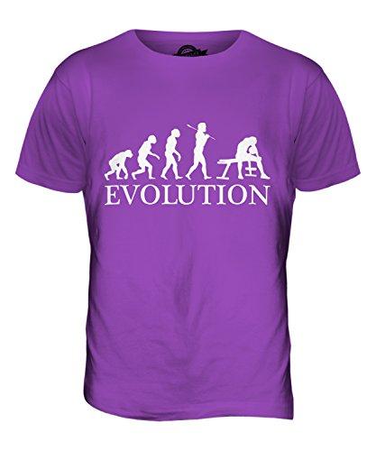 CandyMix Bizeps Curl Evolution Des Menschen Herren T Shirt Violett