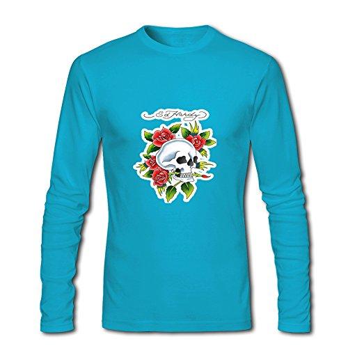 Fashion Ed Hardy long sleeve Tops T shirts -  Maglia a manica lunga  - Uomo l blue Medium
