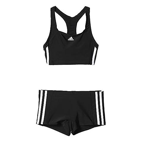 adidas Mädchen Essence Core 3-Streifen Bikini Set, Black/White, 152